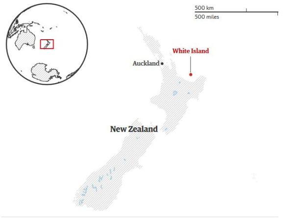 White-island Nouvelle Zélande