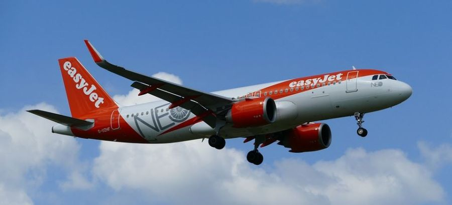 avion en vol d'easyjet