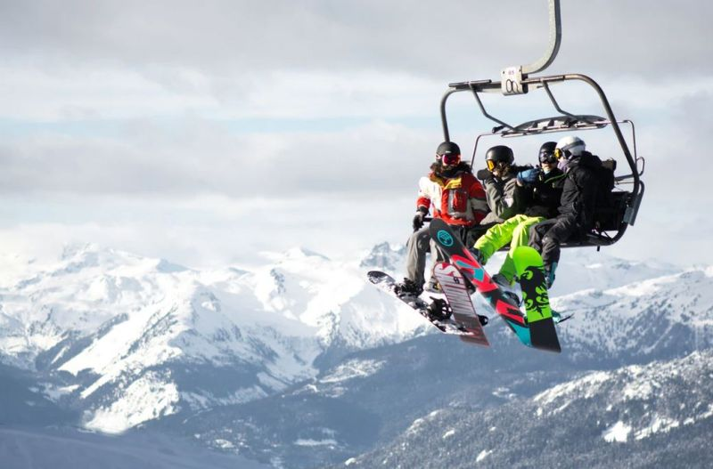 vacances au ski à la montagne